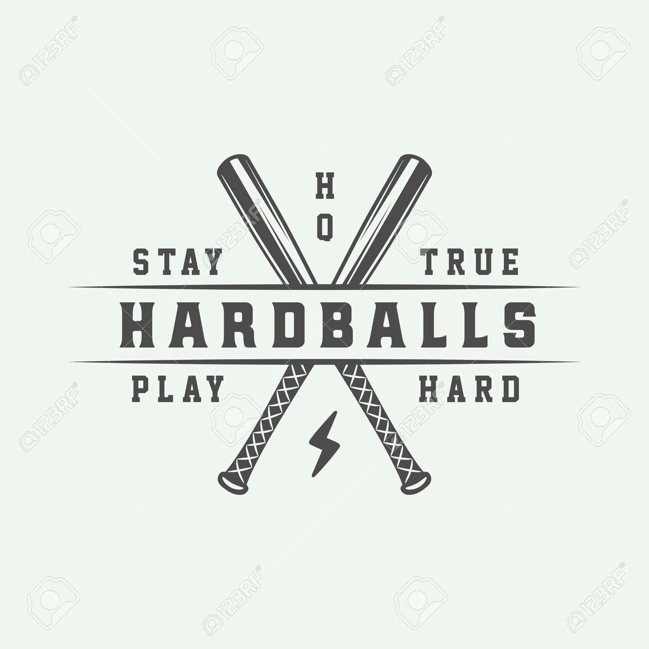 Vintage Baseball Theme Design Template Suitable For Logo Emblem