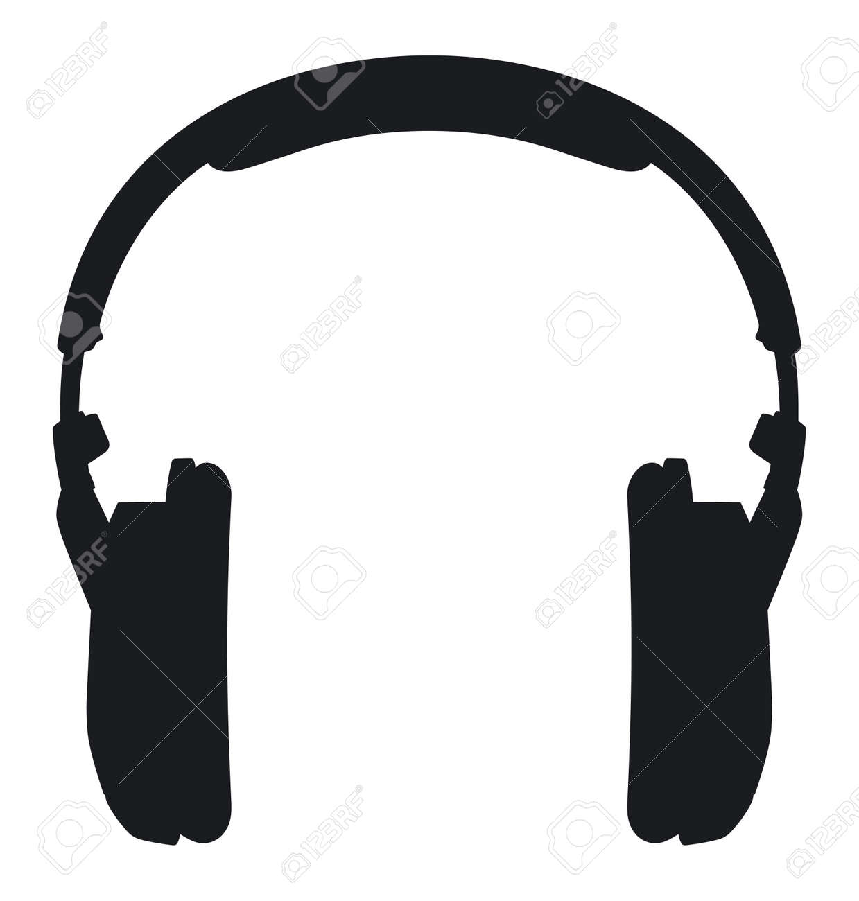 headphones silhouette on a white background royalty free cliparts rh 123rf com headphones vector art headphones vector logo