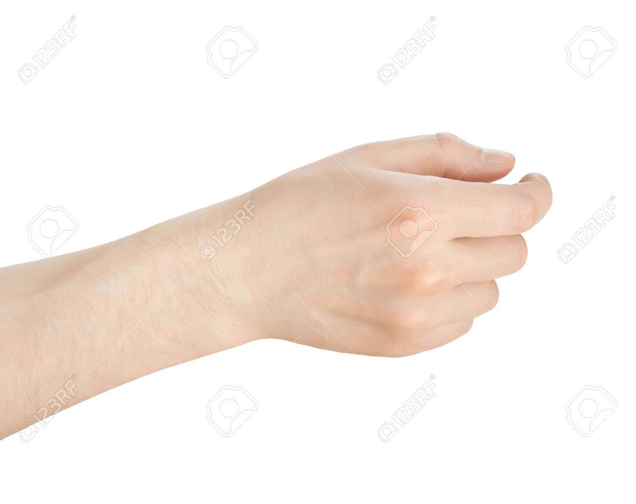 hand hold something on a white background - 18784466