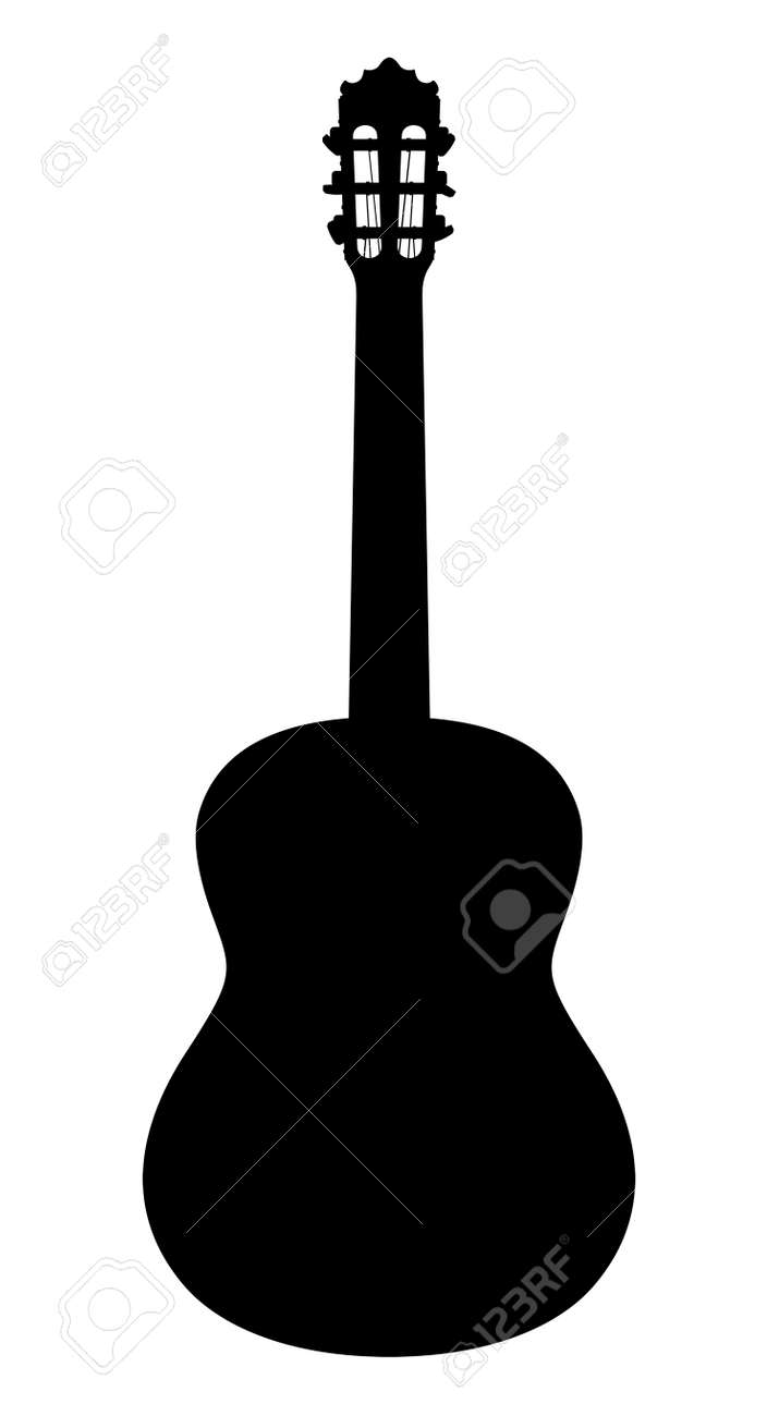 acoustic guitar vector silhouette on a white background royalty rh 123rf com acoustic guitar silhouette vector free acoustic guitar vector silhouette