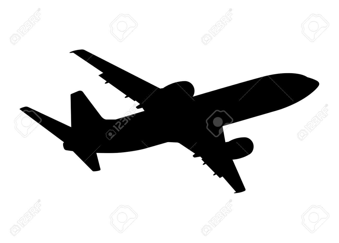 plane silhouette on a white background vector illustration royalty rh 123rf com vector plane formula vector plane calculator