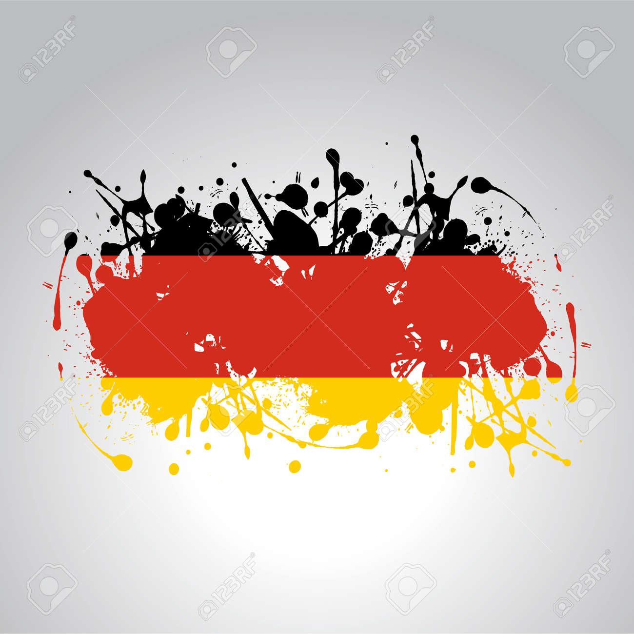 german flag in artistic version in vector - 158690241