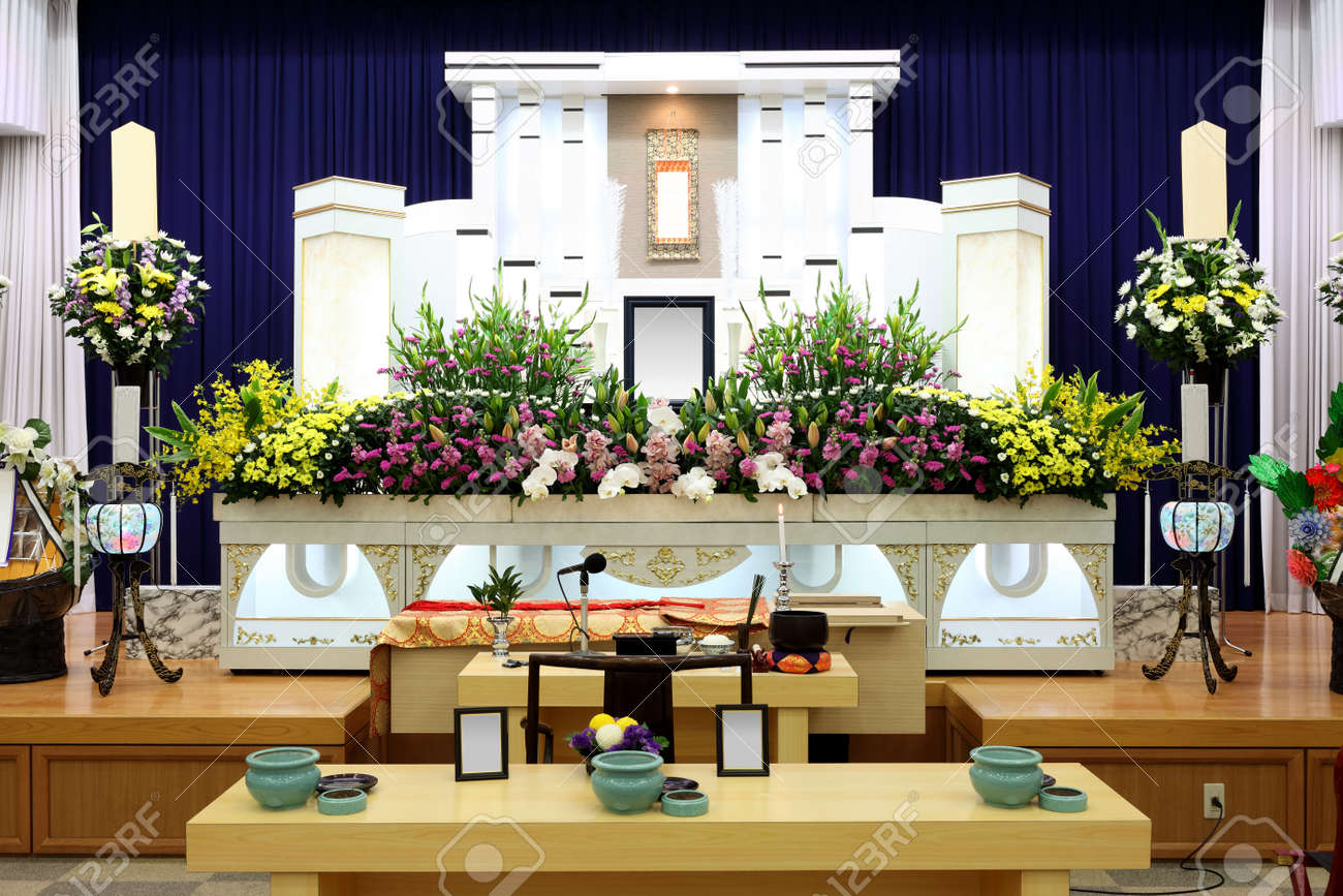 Interior design for funeral home - Funeral Home Interior Of Japanese Style Stock Photo 24676557
