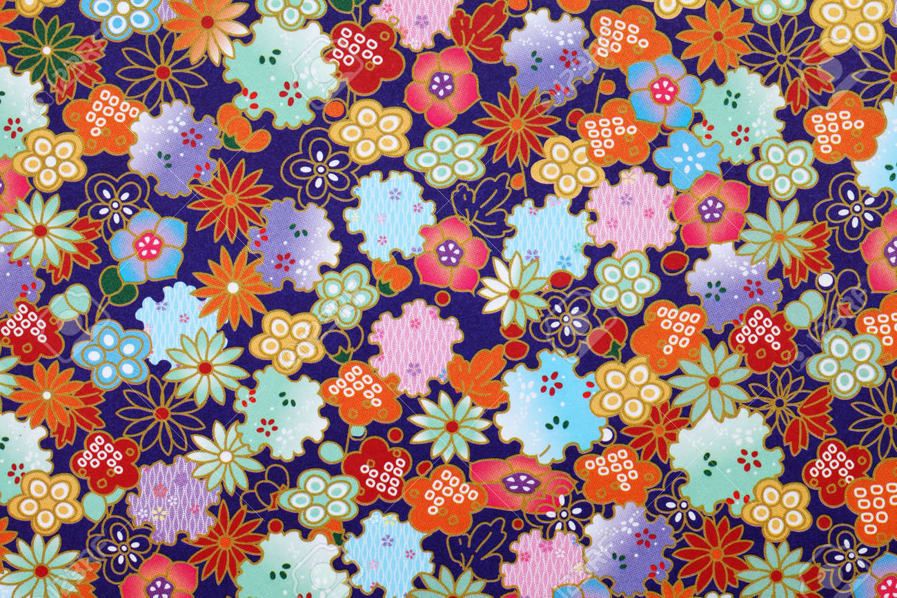 traditional japanese pattern origami paper texture background stock