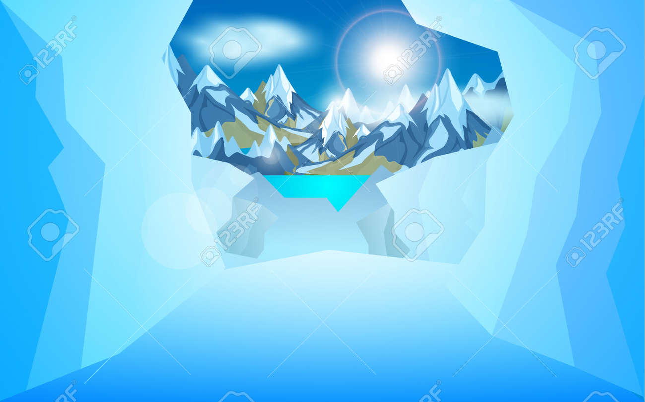 Clean and elegant ice mountain with its bottom part logo design concept  vector Clipart | k55220944 | Fotosearch