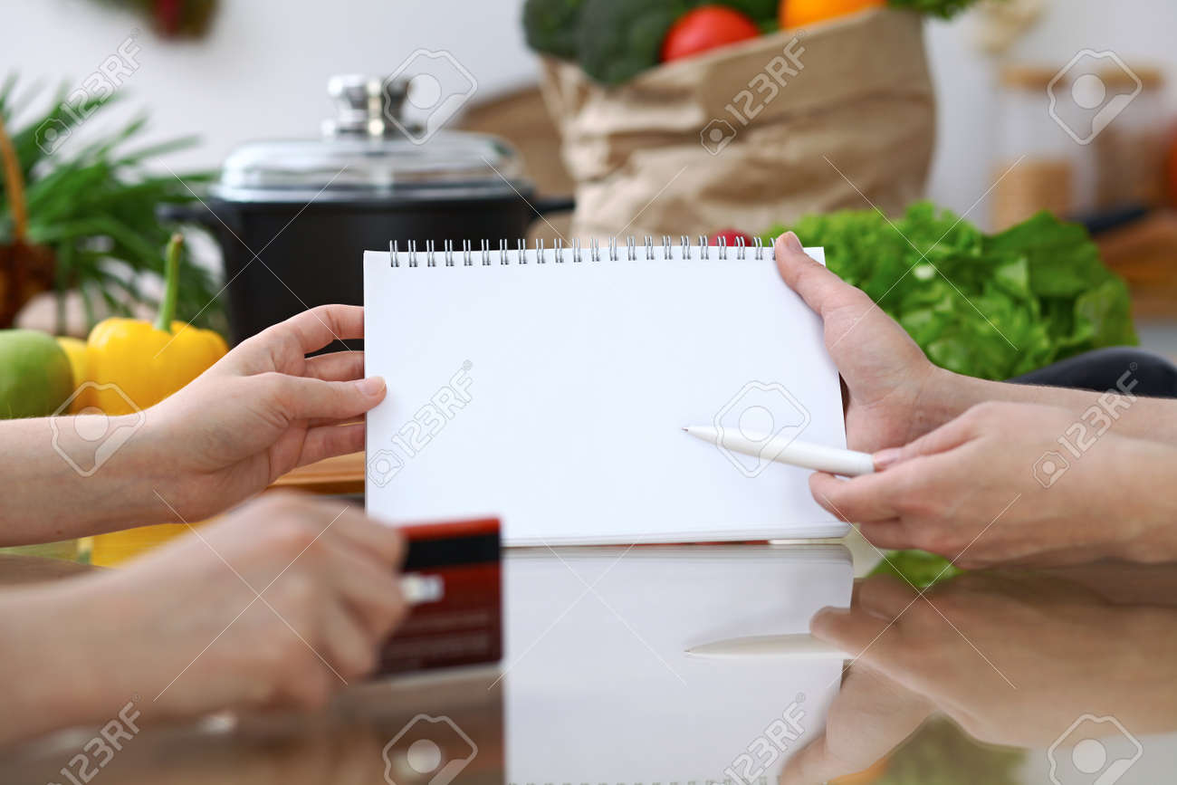 Close-up Of Hands Pointing Into Note Book Copy Space Area ... on kitchen backsplash, kitchen bathroom, kitchen family, kitchen vintage, kitchen classroom, kitchen farm, kitchen tile,