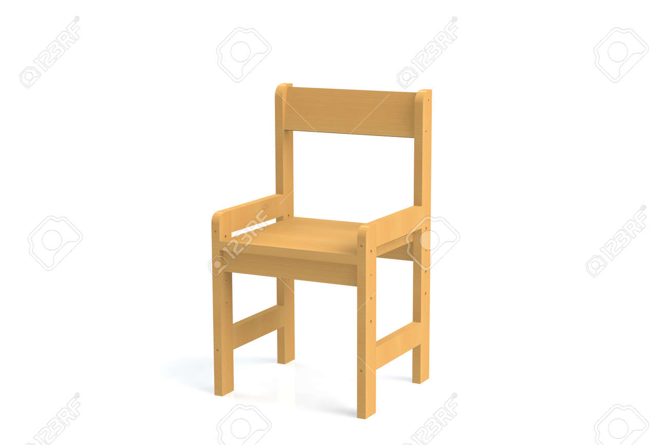 Stupendous Little Child Wooden High Chair On A White Background Isolate Gmtry Best Dining Table And Chair Ideas Images Gmtryco