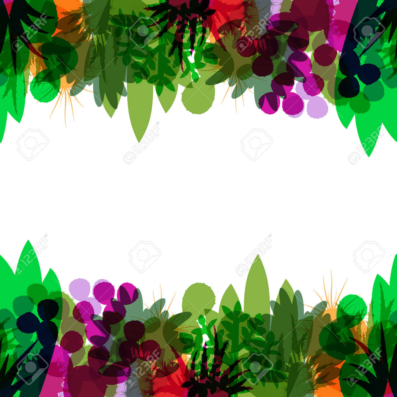 Seamless Border Of Silhouettes Of Cacti And Succulents Seamless Royalty Free Cliparts Vectors And Stock Illustration Image 55798699