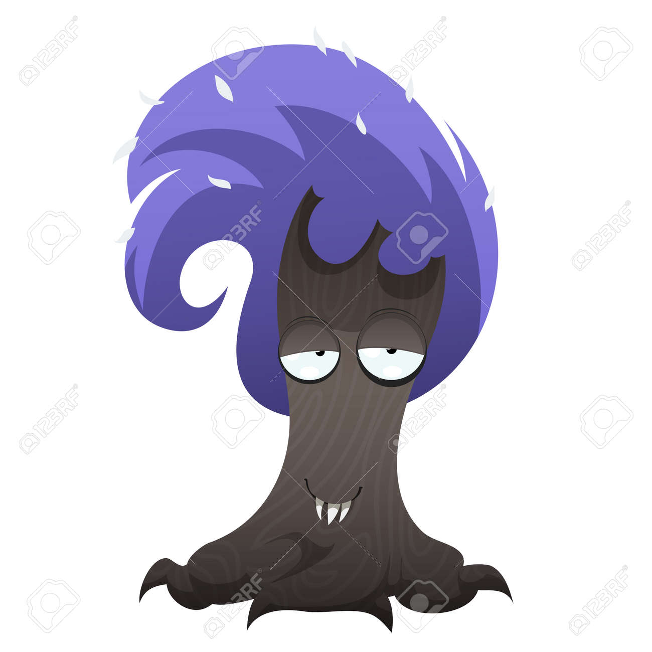 funny tree monster for halloween spooky tree isolated on white rh 123rf com Halloween Clip Art Spooky Tree Sketch