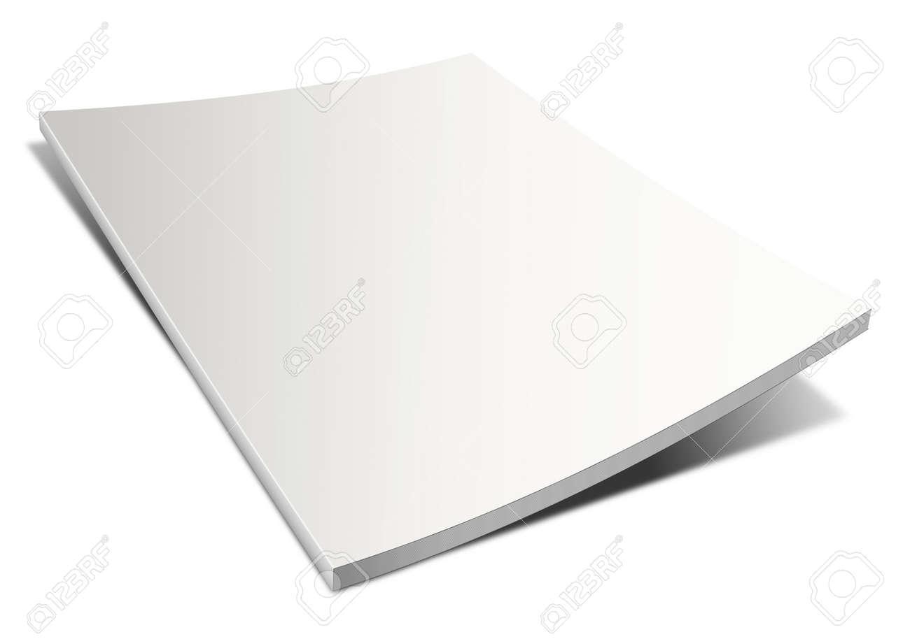 Empty magazine on white background. Perfect blank Stock Photo - 11409451