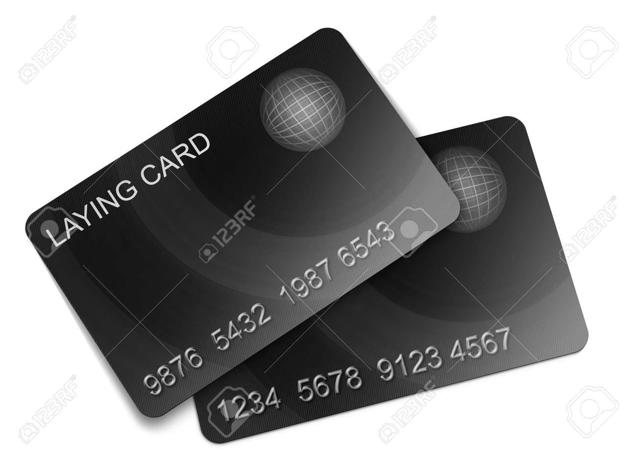 Two membership Card on white background Stock Photo - 12509000
