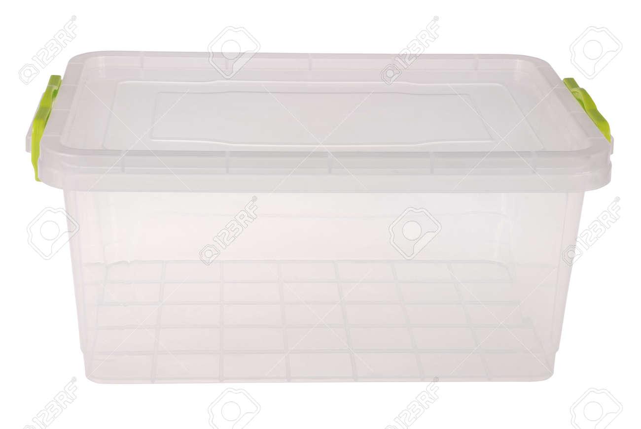 pas cher pour réduction b1259 c1b46 Boîte en plastique alimentaire isolé sur blanc. Coupure à l'intérieur.
