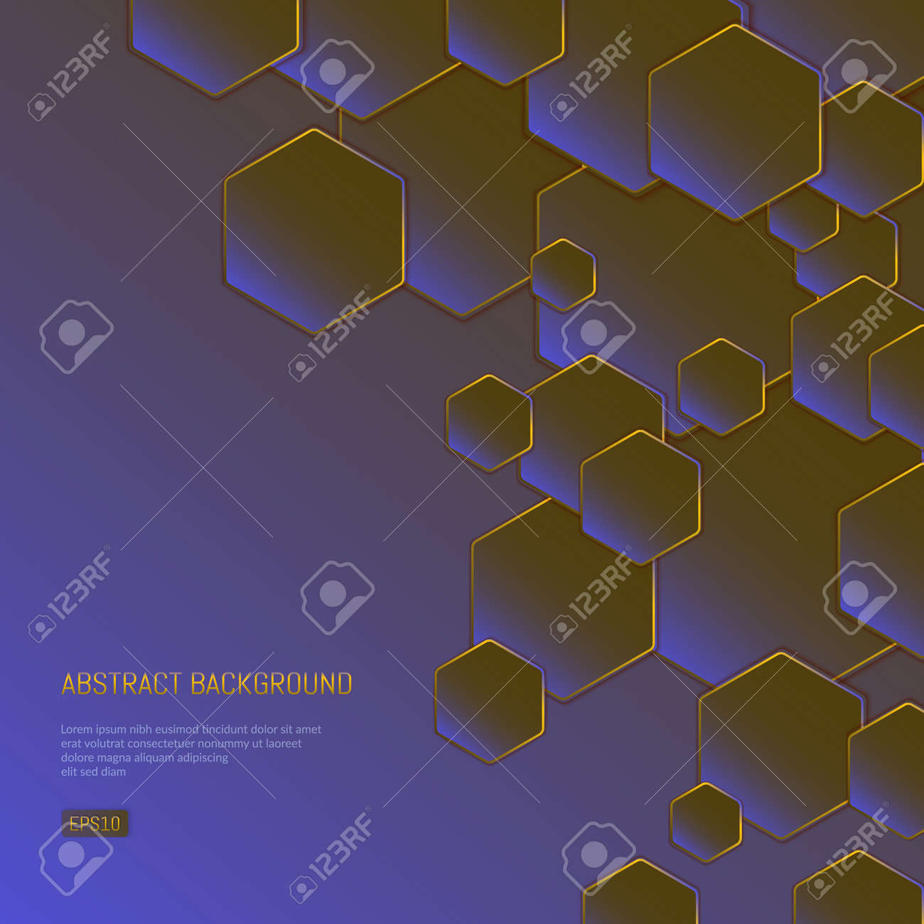Abstract background for presentations on business and science