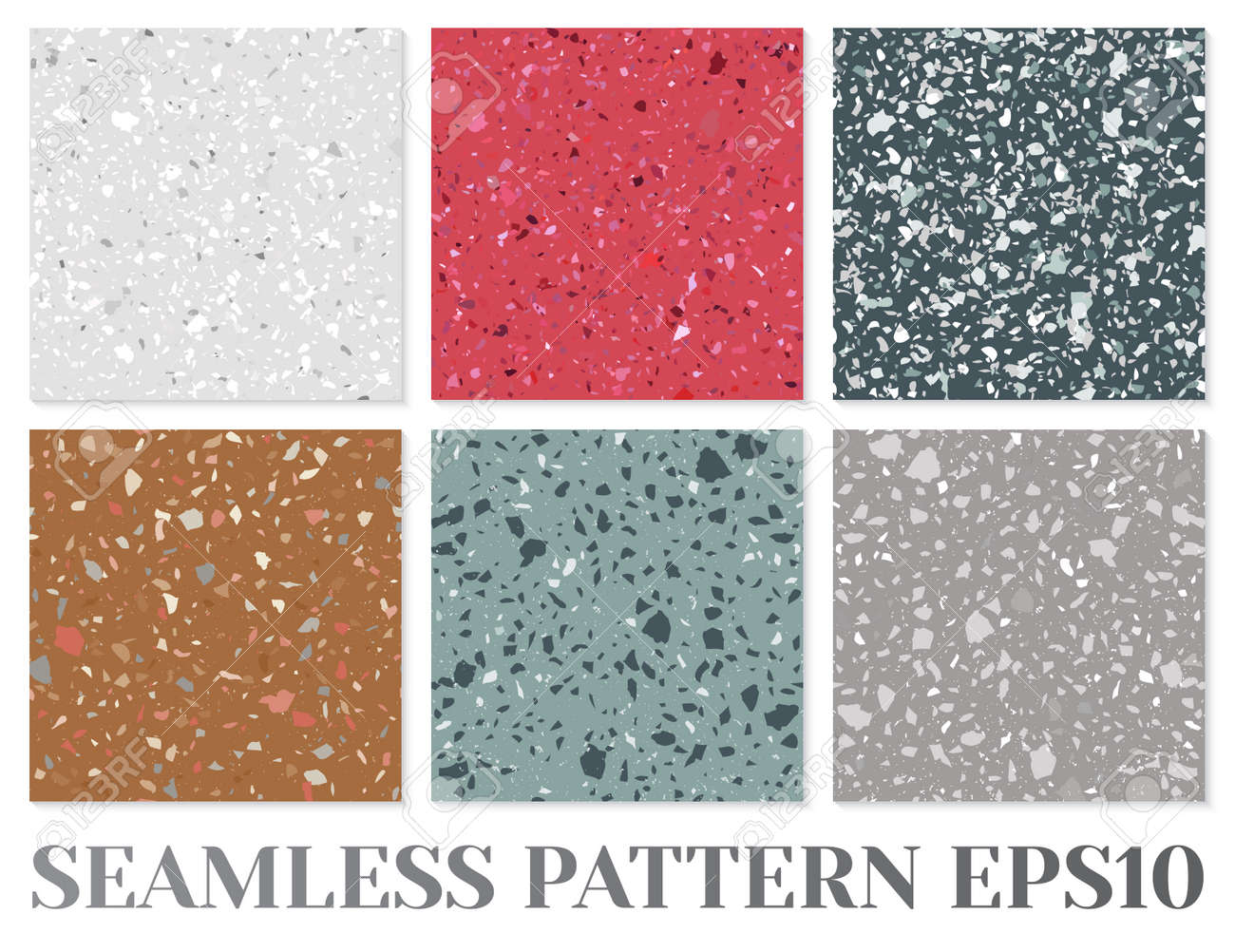 Terrazzo Flooring Vector Seamless Pattern Texture Of Classic