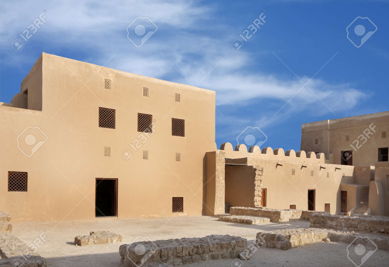 Room designed at two levels in Riffa Fort, Bahrain Stock Photo - 14340882