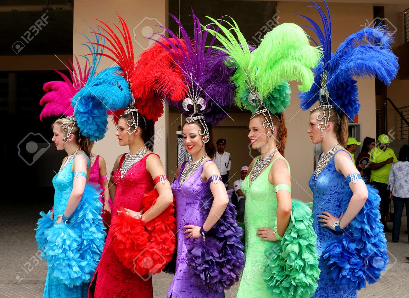 Bahrain Women Dress Women in Colourful Dress
