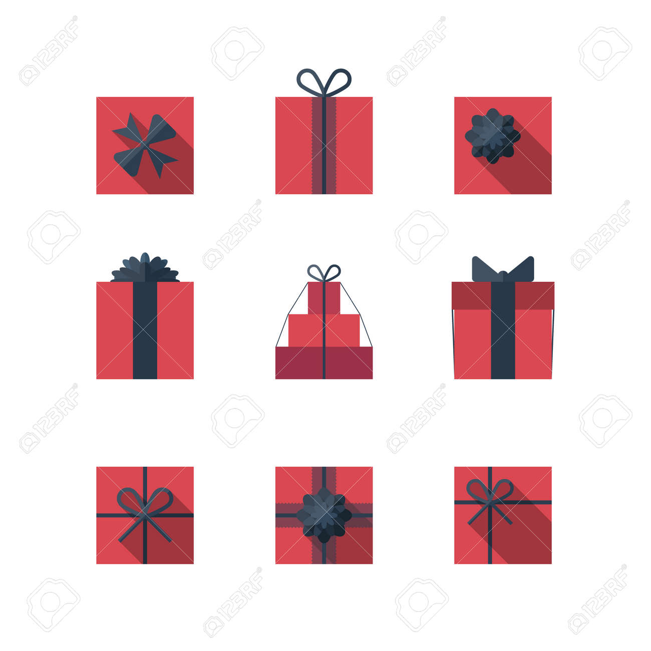 1,285 Top View Gift Boxes Stock Vector Illustration And Royalty ...