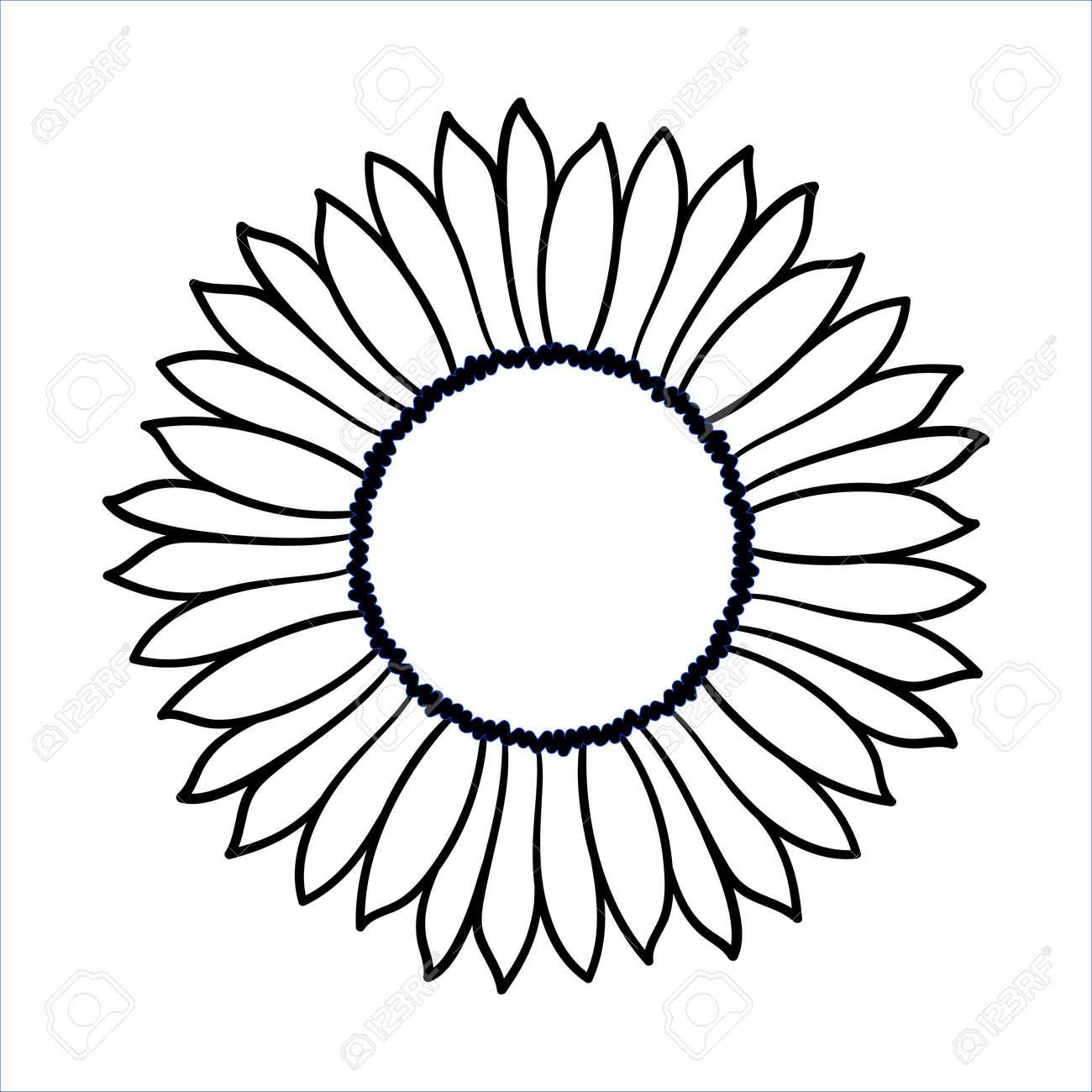 vector doodle sunflower illustration simple hand drawn icon rh 123rf com sunflower vector free download sunflower vector freepik