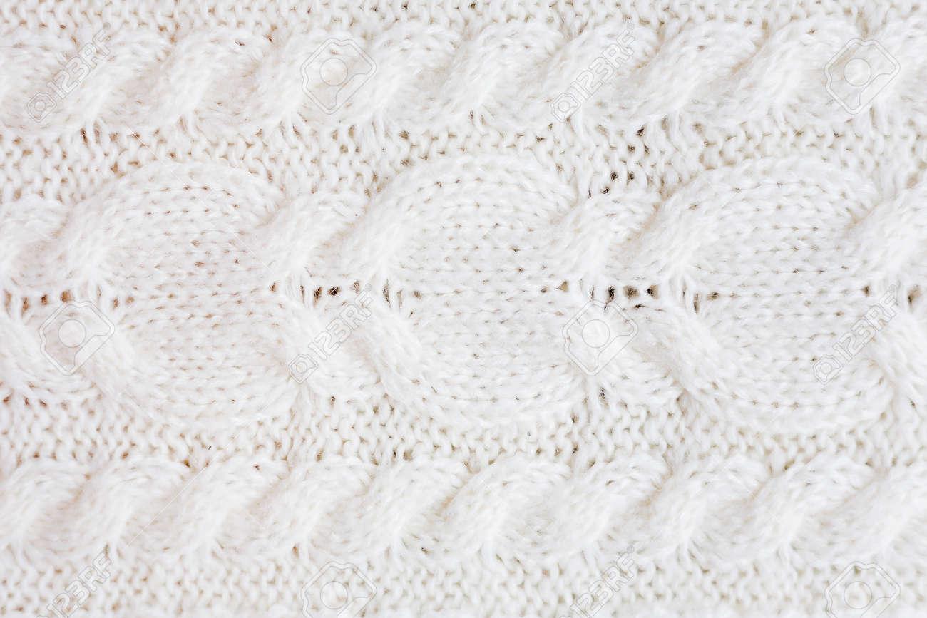 Fondo Hecho Punto Abstracto. Textura De Las Lanas Suéter Blanco ...