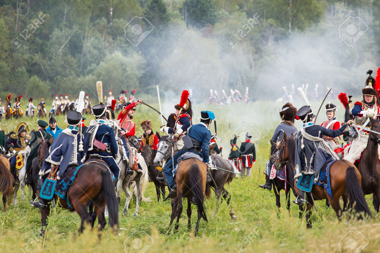 BORODINO, RUSSIA - September 02, 2017 - Reenactment of the battle