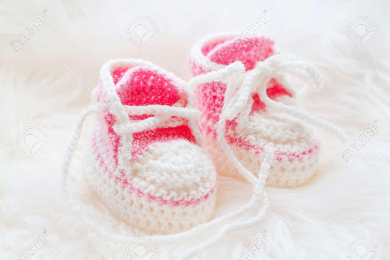 Little Baby Shoes. Hand Knitted First