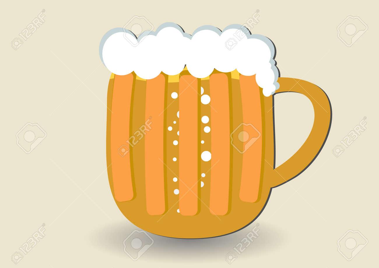 Mug of beer Stock Vector - 14993627