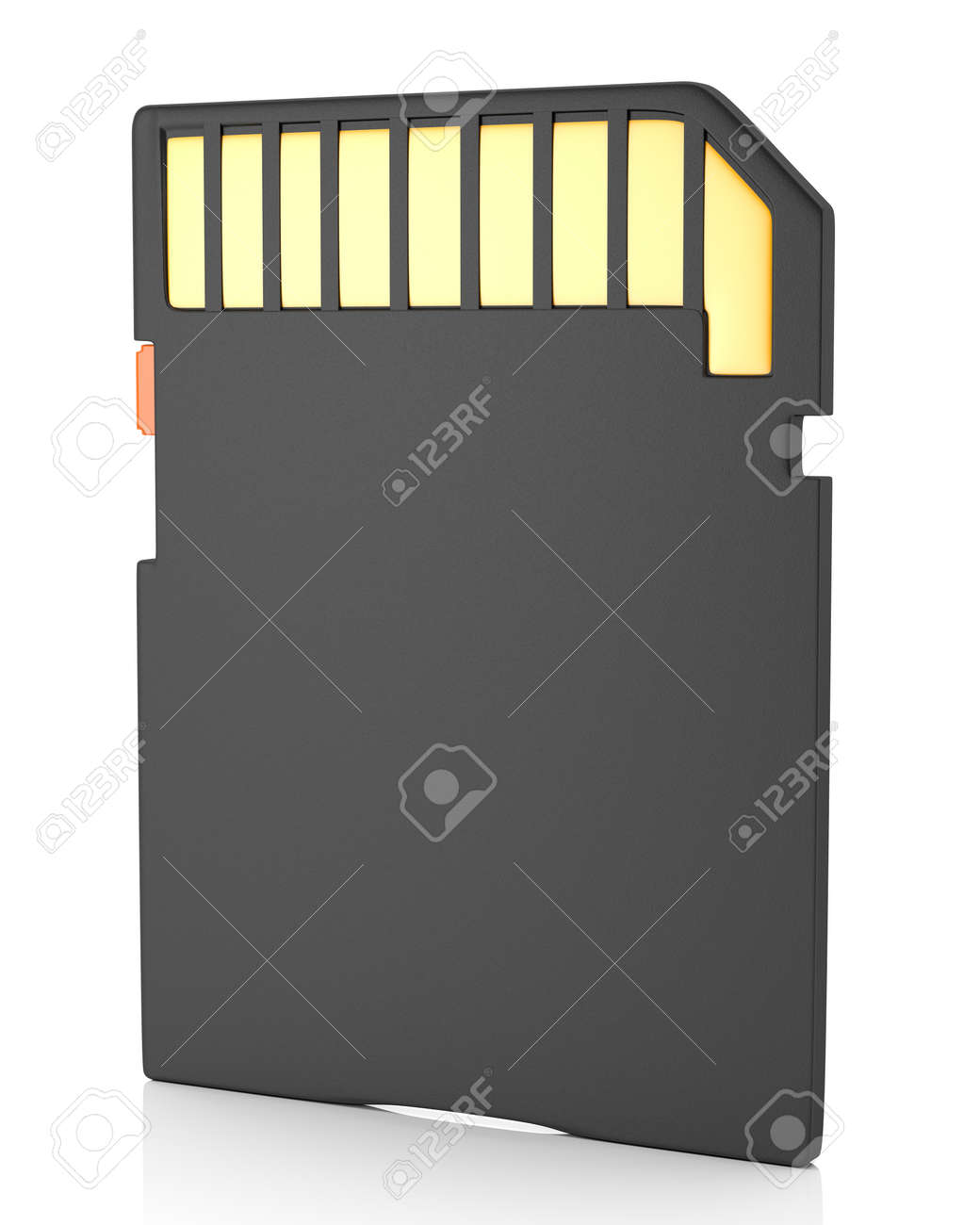 Memory flash card isolated on white background 3d illustration - 23843166