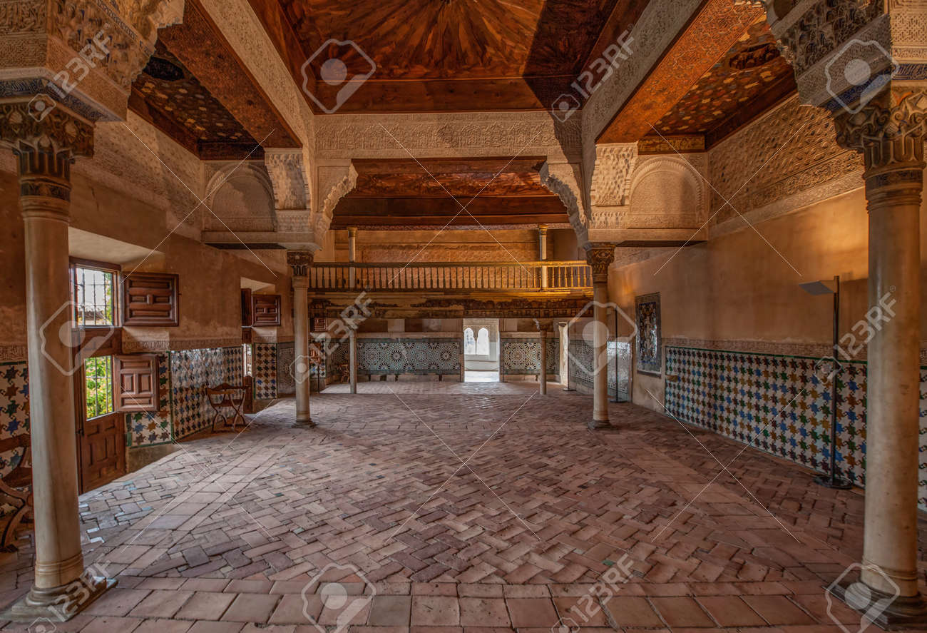 December 15th 2012. Alhambra, Granada, Spain. Interior view intricate details of Alhambra Stock Photo - 17025561
