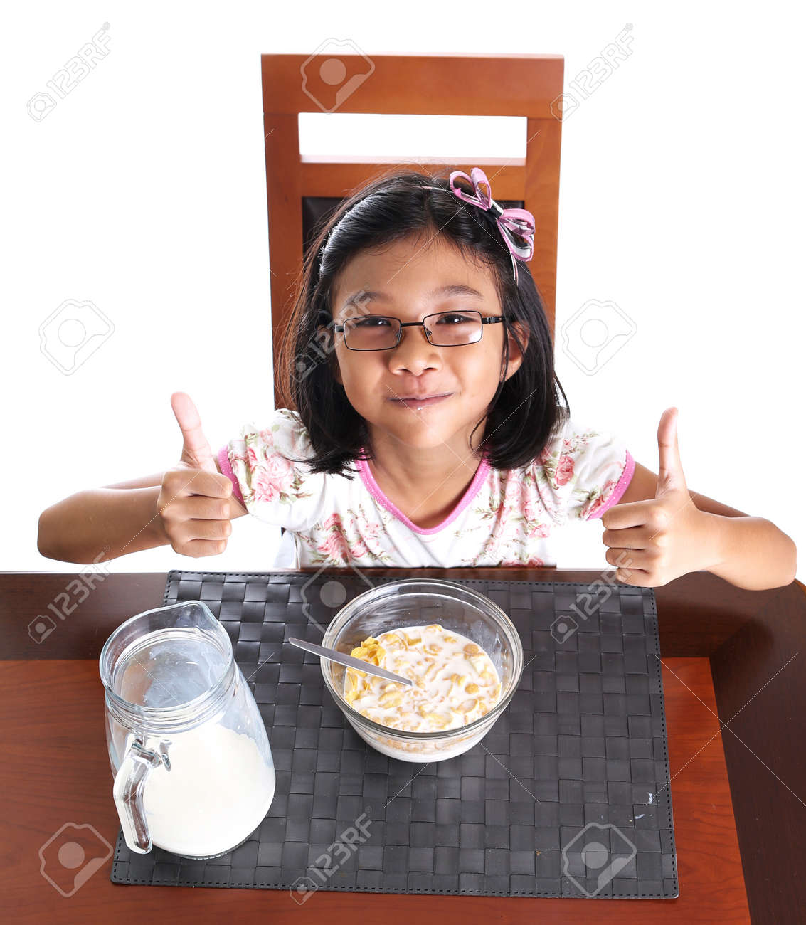 Asian mik and cereal