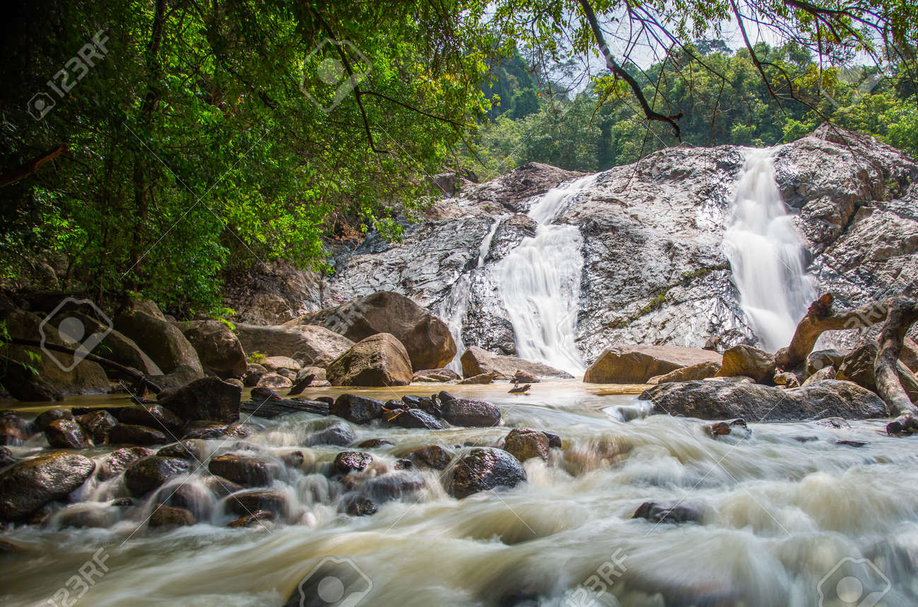 Waterfall Malaysia Pahang a Jungle Waterfall in Pahang