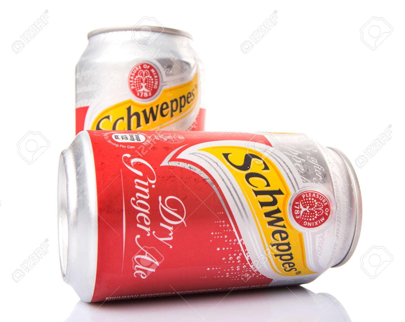 KUALA LUMPUR, MALAYSIA - JANUARY 30TH 2015  Schweppes is a beverage