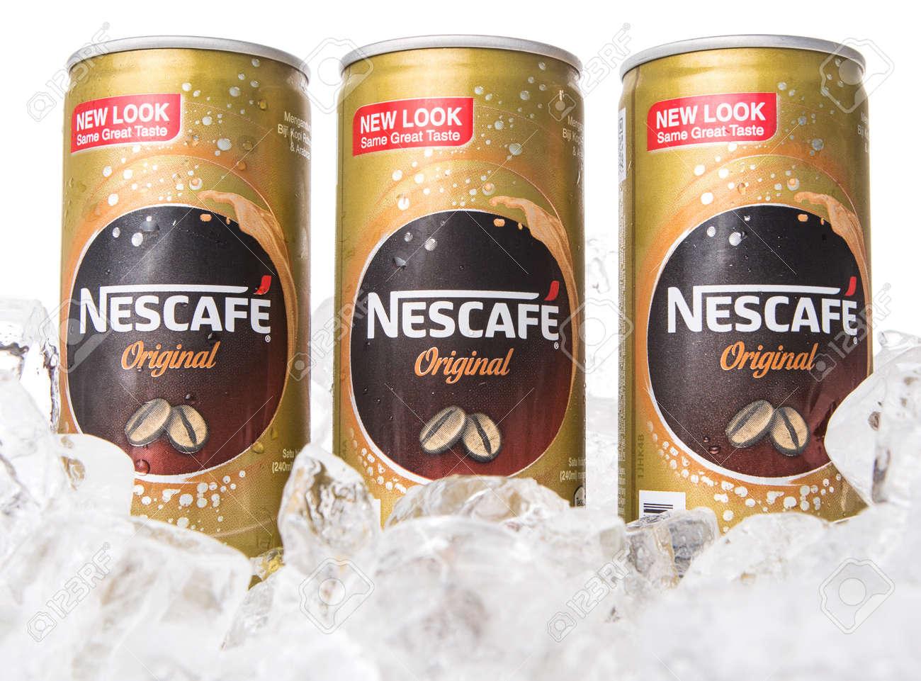 KUALA LUMPUR, MALAYSIA - FEBRUARY 13TH 2015  Nescafe can drink