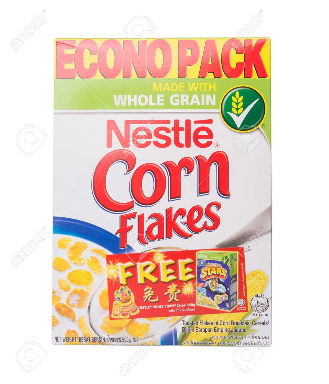 KUALA LUMPUR, MALAYSIA - FEBRUARY 24TH 2015  Nestle Corn breakfast