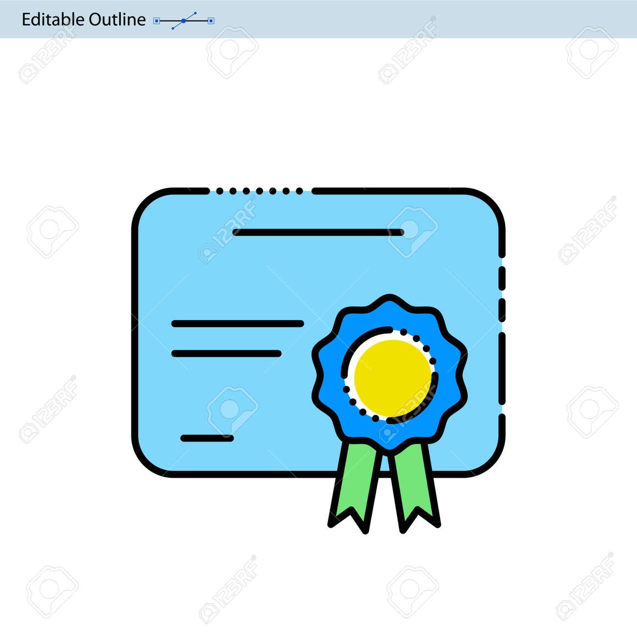 Certificate Icon Achievement Certification Document Graduation