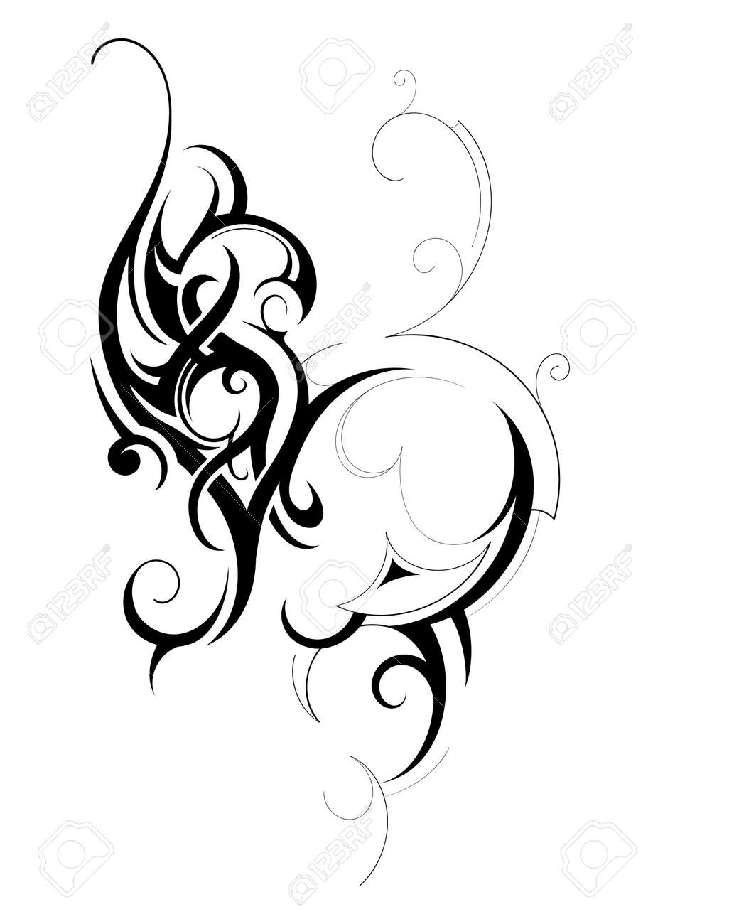 Decorative shape created in tribal art style Stock Vector - 12344838