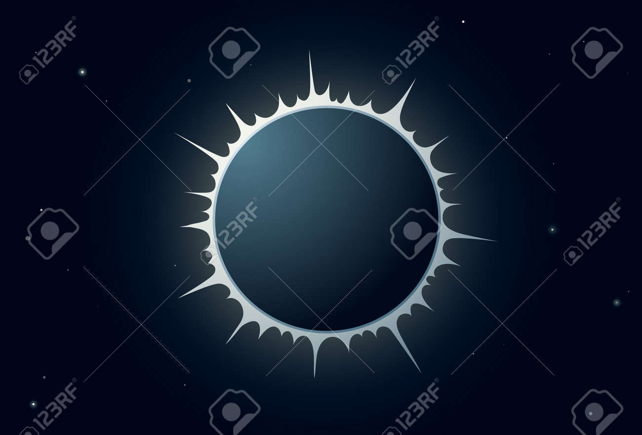 Illustration of full sun eclipse with crown Stock Vector - 13551702