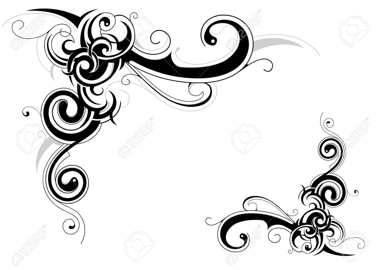 decorative retro frame design with floral elements stock vector 14503842