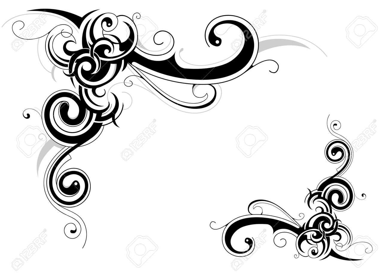 frame design.  Design Decorative Retro Frame Design With Floral Elements Stock Vector  14503842 In Frame Design R