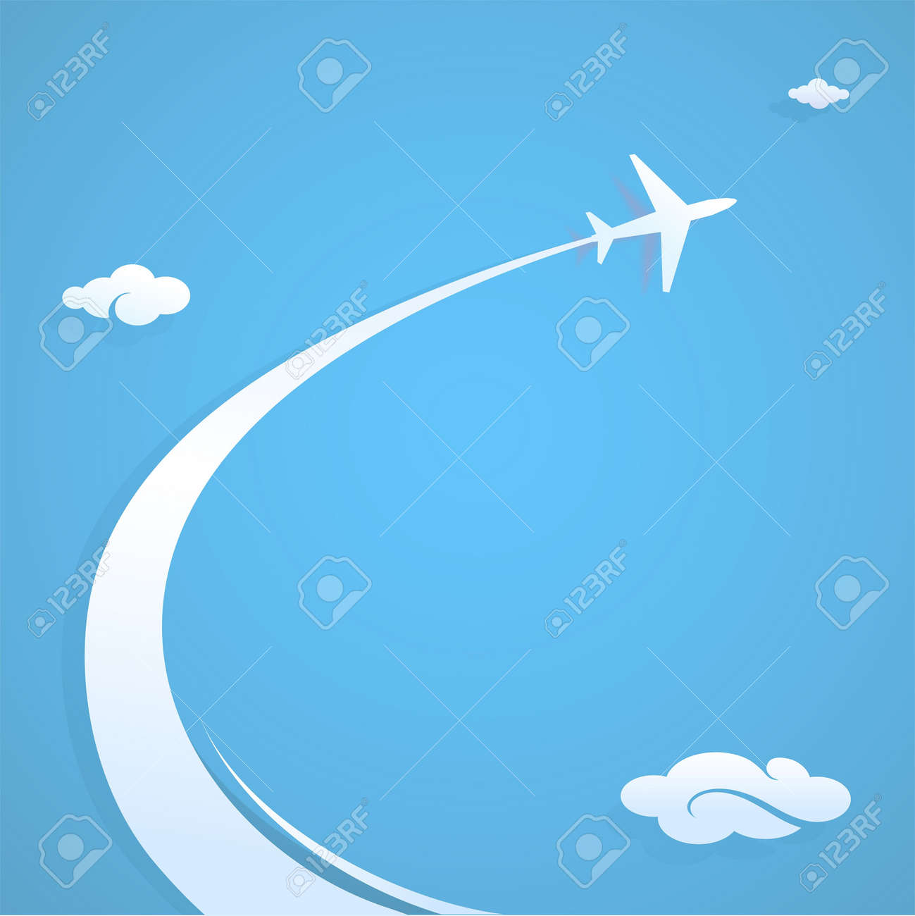 Plane trail graphic design illustration with copy space - 21069559