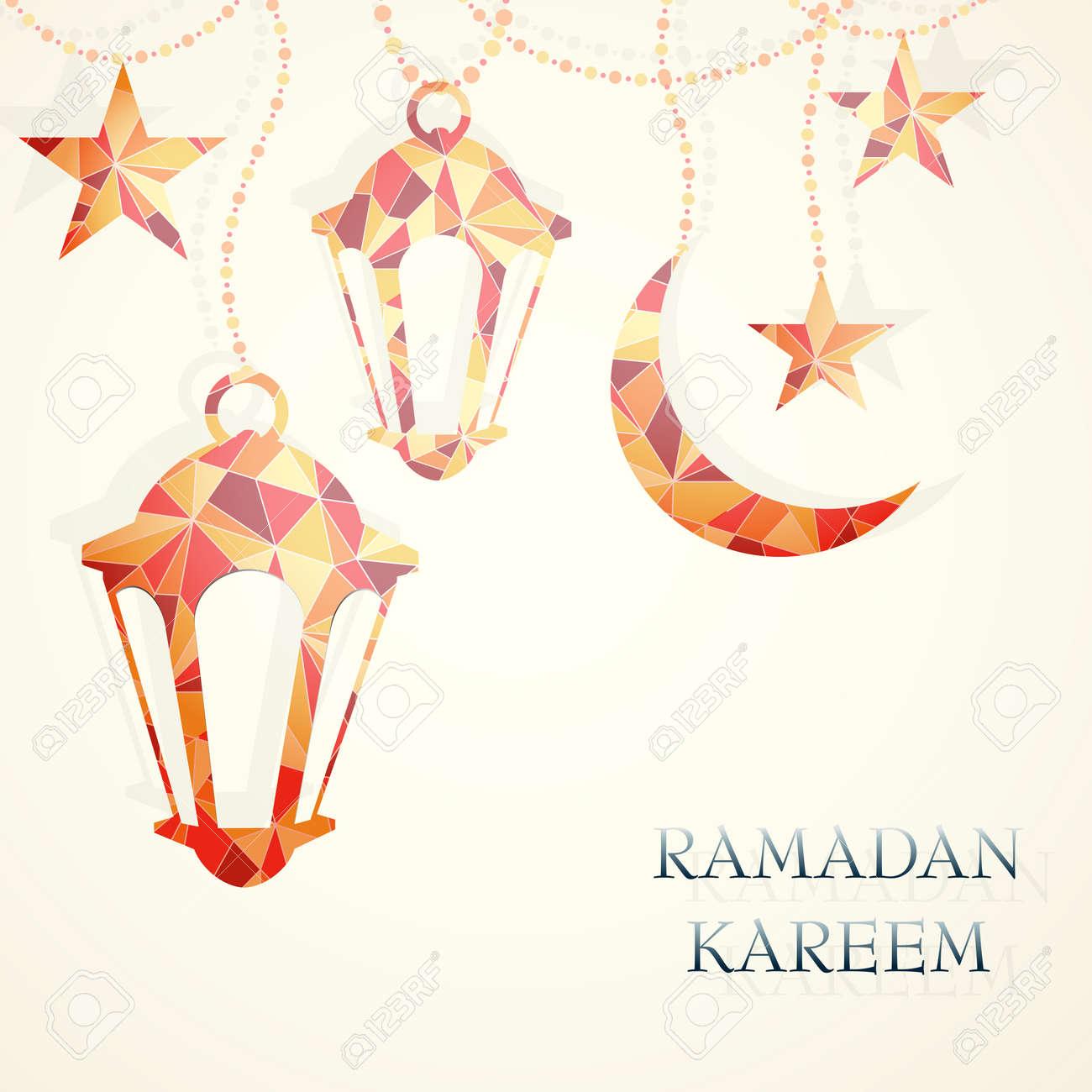 Ramadan greeting card design. - 29855171