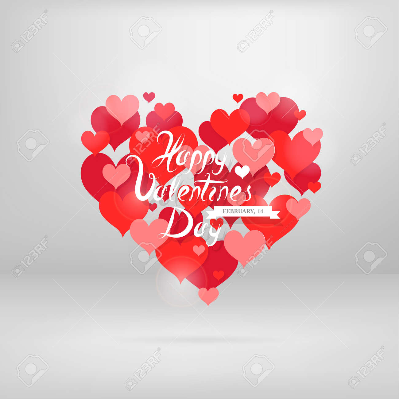 Heart shape shaped from planty of hearts st valentines greeting heart shape shaped from planty of hearts st valentines greeting card design eps m4hsunfo