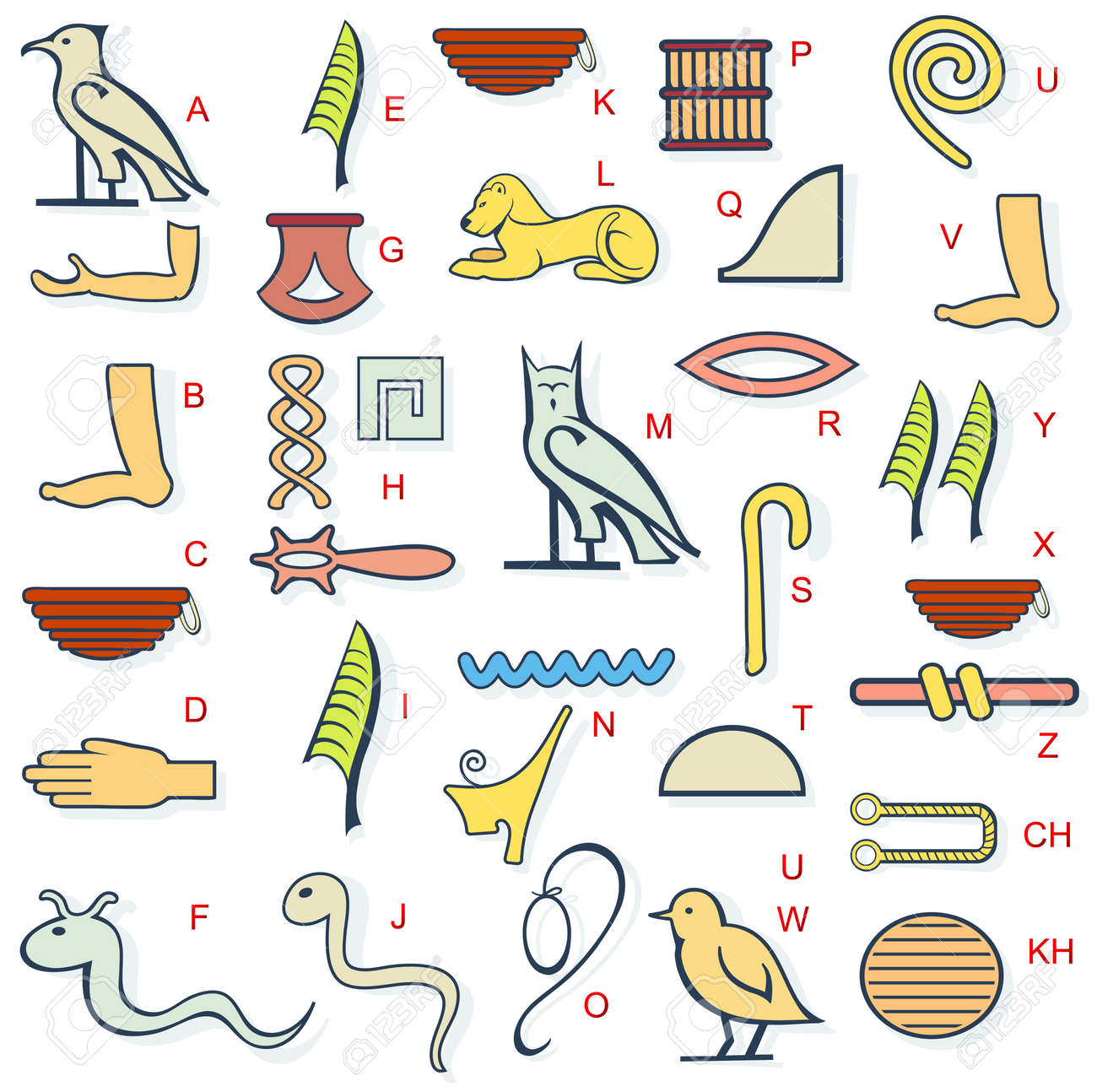 Vector illustration for ancient egypt hieroglyphs alphabet set vector vector illustration for ancient egypt hieroglyphs alphabet set buycottarizona Choice Image
