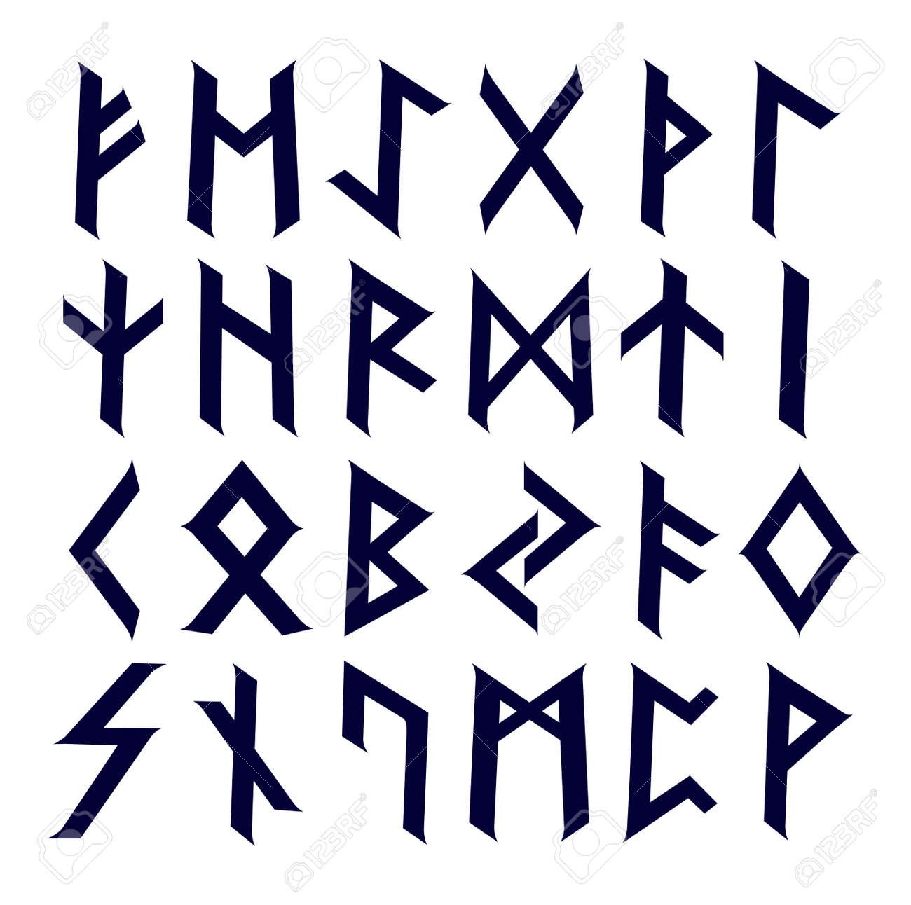 Ancient Celtic runes complete alphabet set - 37099437