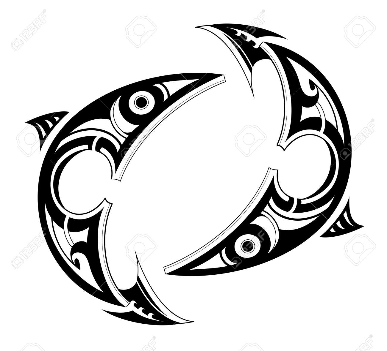 Pisces tatto shape as zodiac symbol isolated on white royalty free pisces tatto shape as zodiac symbol isolated on white stock vector 48543437 biocorpaavc Images