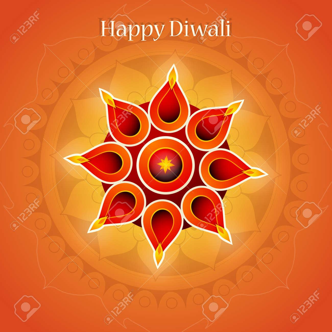 Diwali festival greeting card design with traditional ornament diwali festival greeting card design with traditional ornament stock vector 64510723 m4hsunfo