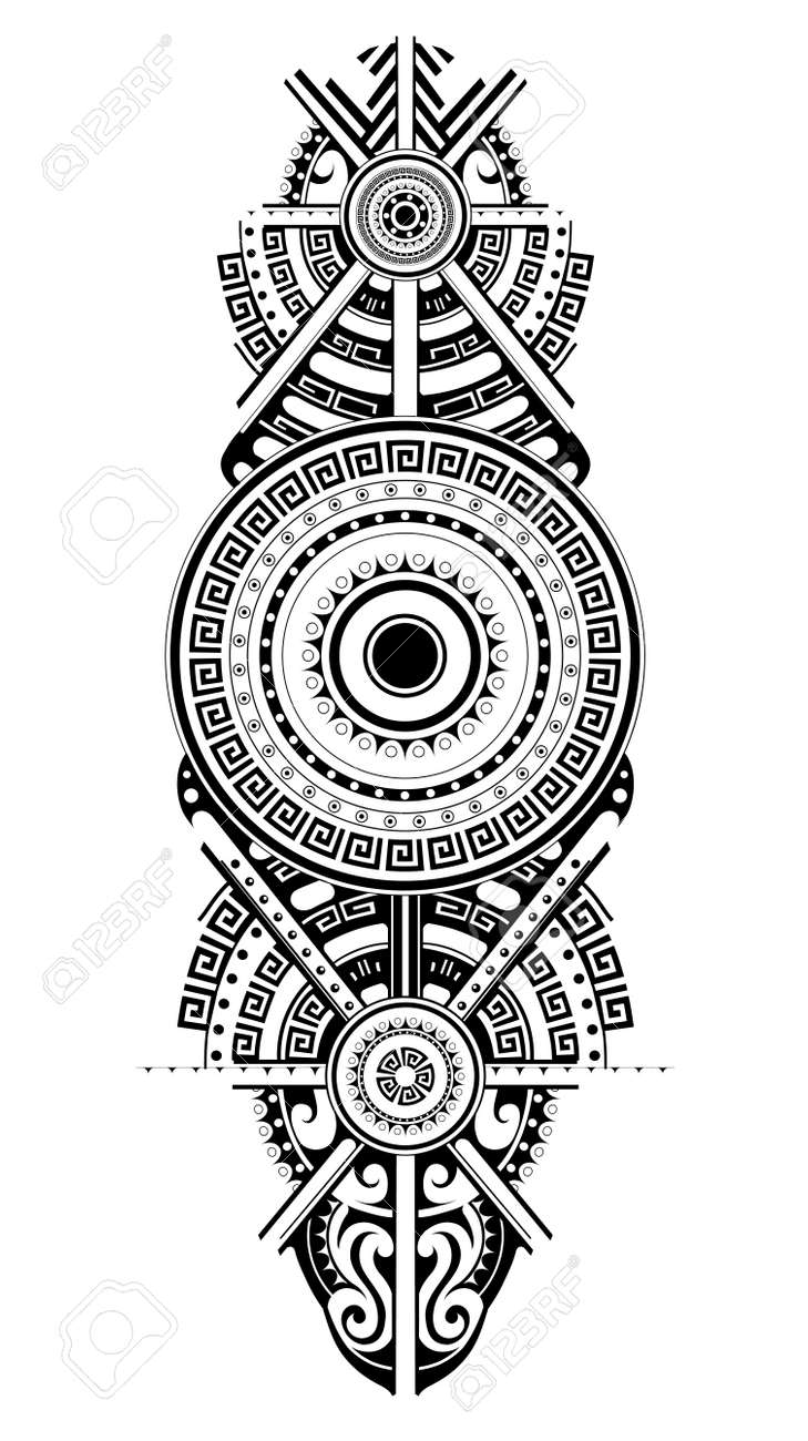 f07bffd984a27 Maori tattoo design. Ethnic ornament can be used as body tattoo or ethnic  themed backdrop