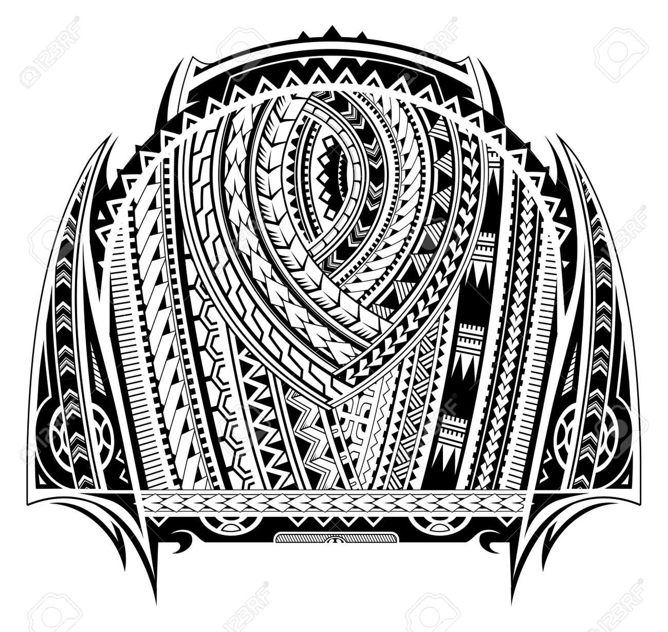 Tatouage De Style Maori Bon Pour Le Tatouage A La Poitrine Et A La Manche Clip Art Libres De Droits Vecteurs Et Illustration Image 77622249