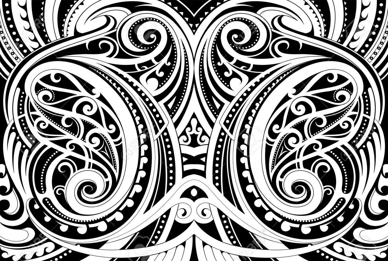 Maori ethnic ornament - 79633569