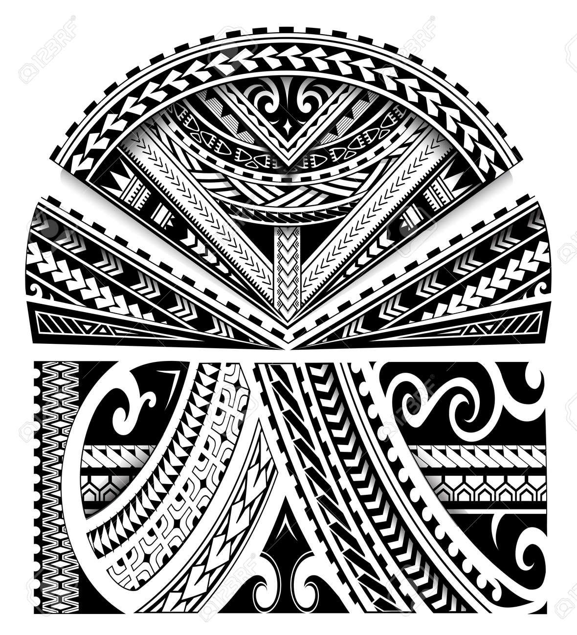 e642e49a712ae Maori Ethnic Style Sleeve Tattoo Ornament Royalty Free Cliparts ...