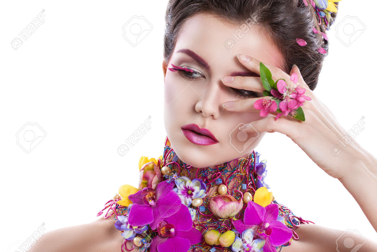 Image result for flowers on around the neck